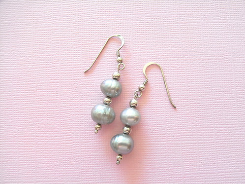 Sea Daisy Fresh Water Pearl Earrings