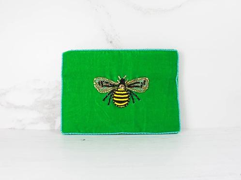 My Doris Small Velvet Bee Purse