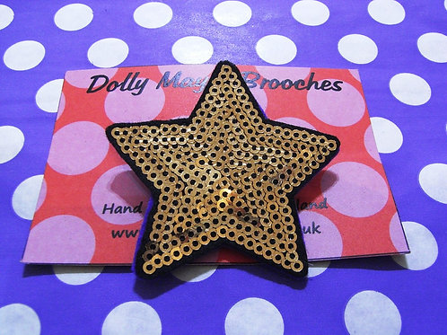 Dolly May Sequined Gold Star