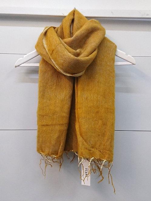 Mustard Scarf 50% Wool