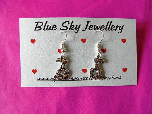 Blue Sky Rabbit Earrings