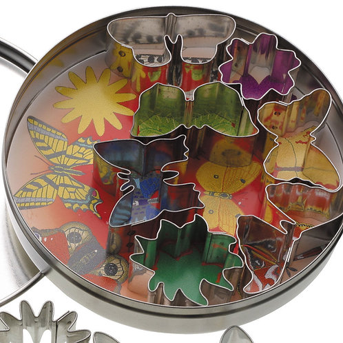 KitchenCraft 11 Butterflies and Flower Cutters With Metal Storage Tin