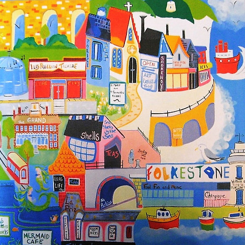 'Colourful Folkestone' Deborah Woodward Card