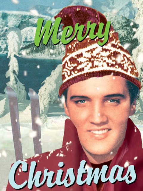 Elvis Christmas Card Pack Of 5