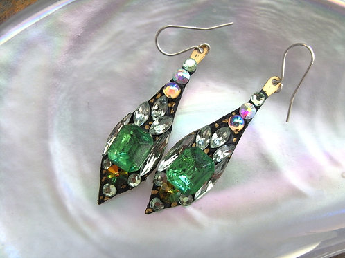 Annie Sherburne Pale Green Drop Earrings