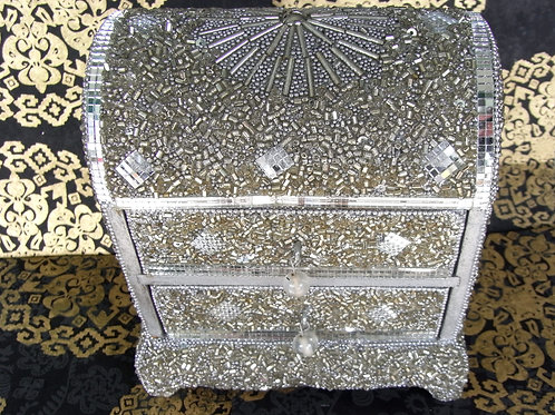 Embellished Two Drawer Jewellery Box