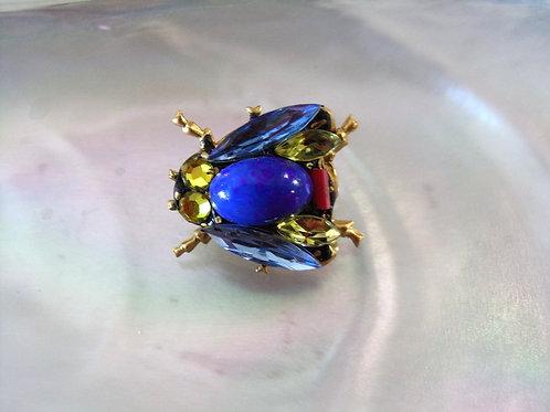 Annie Sherburne Pale Blue Wing Bee Brooch Design 1