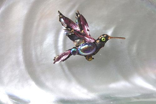 Annie Sherburne Pink Wing Hummingbird Brooch