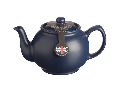Matt Navy Blue 6cup Teapot