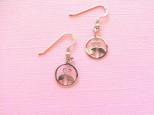 Sea Daisy Flamingo Earrings