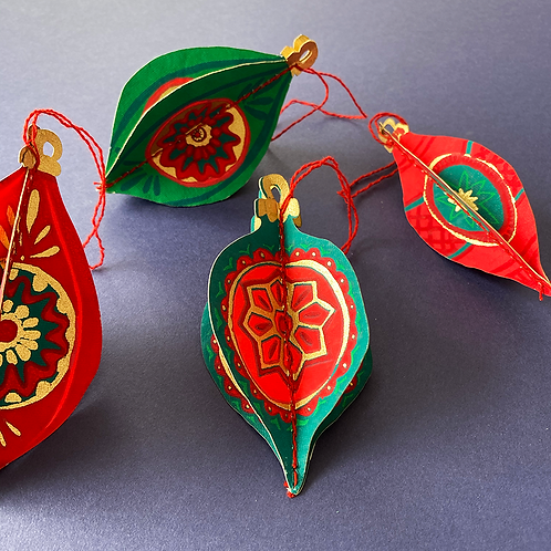Christmas Bauble Paper Decorations