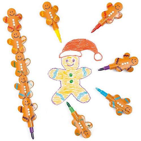 Gingerbread Man Pop Up Crayons