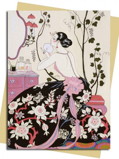 Backless Dress (Barbier) Greeting Card