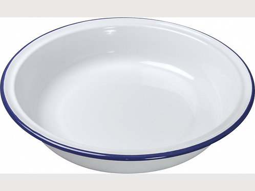 Falcon Blue and White Enamel Round Pie Dishes