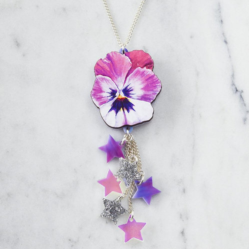 Esoteric Pansy Shooting Star Necklace