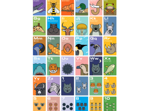 Andy Tuohy Animal Alphabet Poster