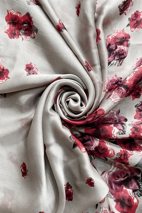 Scattered Rose Scarf 100% Silk