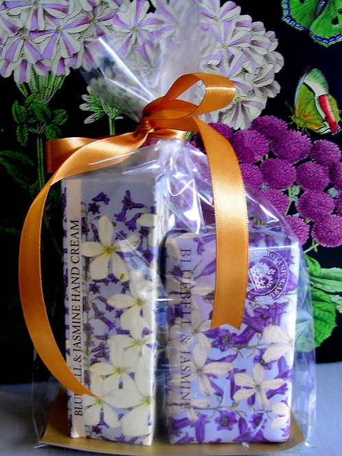 Kew Gardens Bluebell and Jasmine Soap + Hand Cream Duo