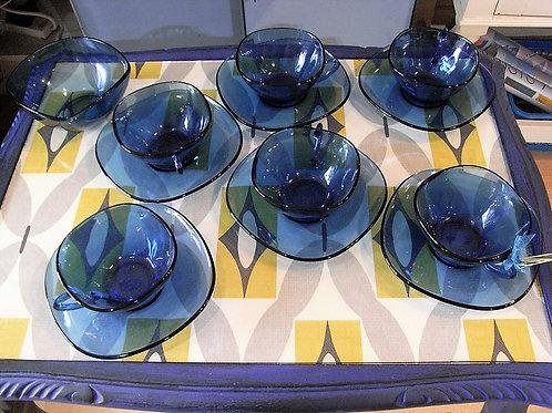 Vintage Blue French Coffee/ Tea Set