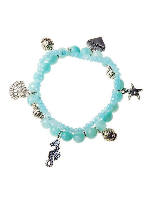 Rosie Fox Aquamarine Nautical Charm Bracelet