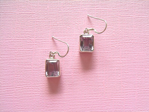 Siren Silver Amethyst Earrings
