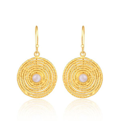 Moonstone Labyrinth Earrings