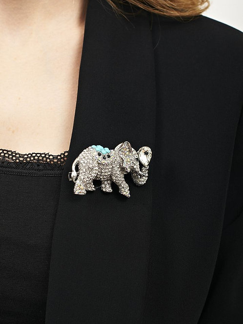 Rosie Fox Silver Crystal Elephant