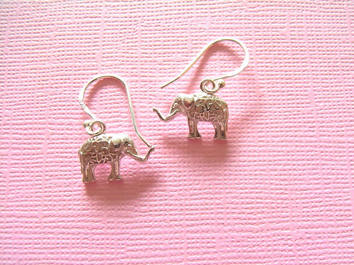 Siren Silver Elephant Earrings