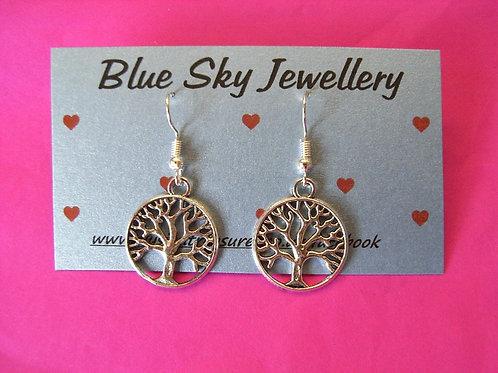 Blue Sky Tree Of Life Earrings