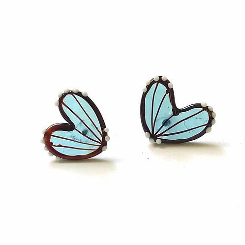 Helen Chalmers Neptune Blue Butterfly Wing Studs