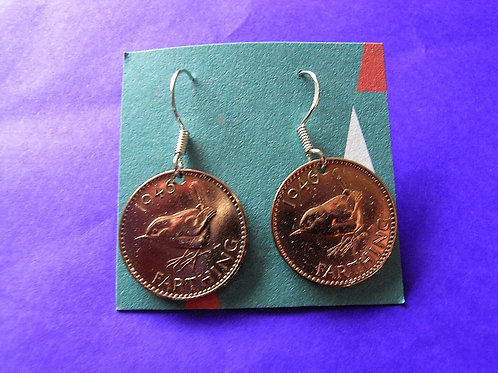 1946 Farthing Coin earrings