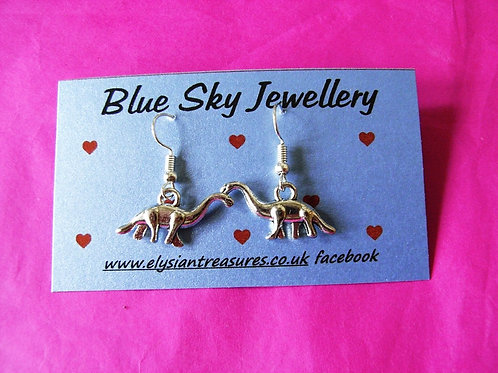 Blue Sky Tyrannosaurus Earrings