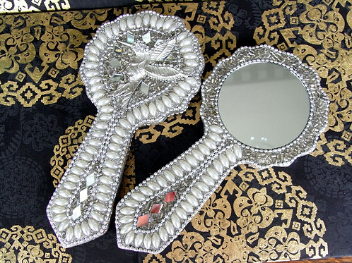 Embellished Hummingbird Mirror