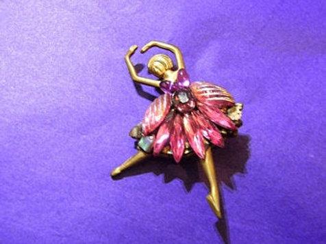 Annie Sherburne Pink Ballerina Brooch