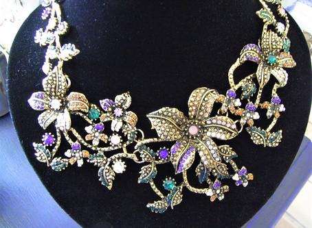 Autumn Flower Statement Necklace