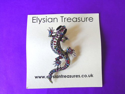 Colourful Gecko Brooch