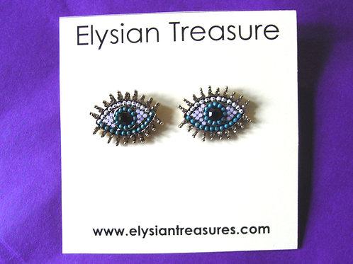 Crystal Eye Stud Earrings
