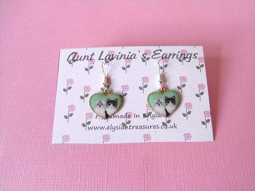 Aunt Lavinia Cat Earrings