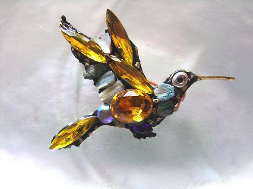 Annie Sherburne Gold Hummingbird Brooch