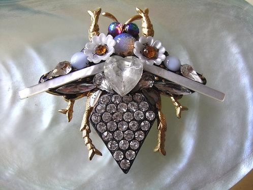 Annie Sherburne Large Ivory Bee Brooch