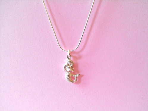 Siren Silver Mermaid Charm Necklace