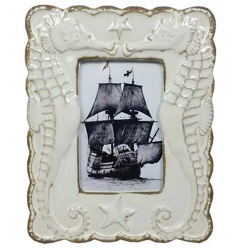 Ceramic Sea Horse Picture Frame