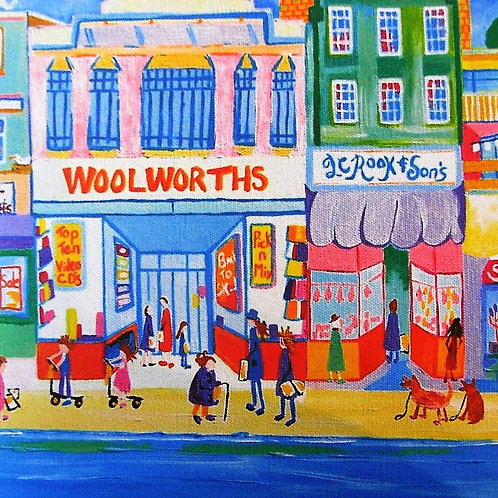 'Vintage Woolworth's Of Hythe' Deborah Woodward Card