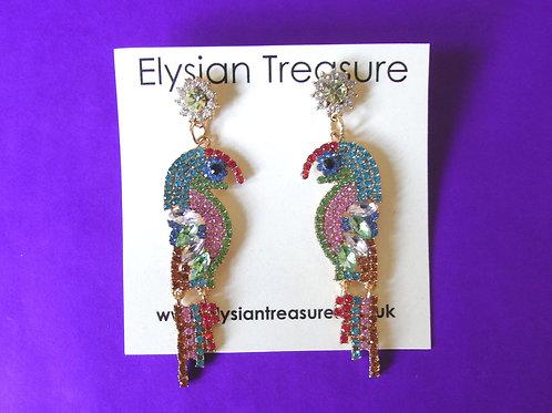Pastel Parrot Earrings