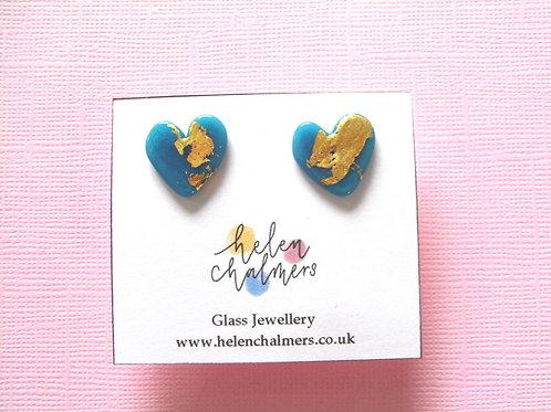 Helen Chalmers Turquoise Heart Earrings deesign 27a)