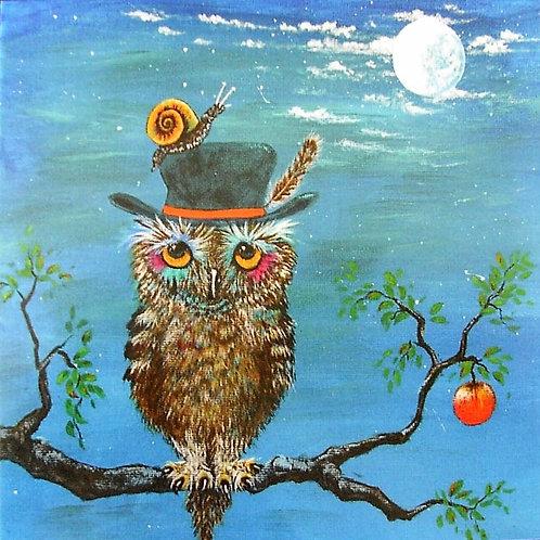 'Tobias Owl' Ginny Garlinge Card