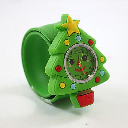 Christmas Tree Popwatch Snap On Slap Watch