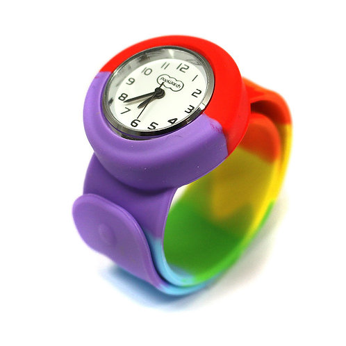 Rainbow Popwatch Snap On Slap Watch
