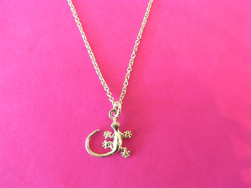 Sea Daisy 925 Silver Gecko Necklace