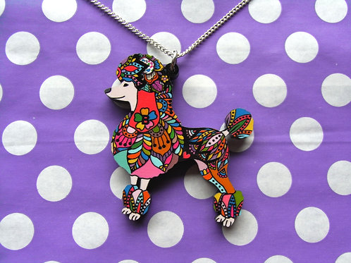 Resin Poodle Necklace